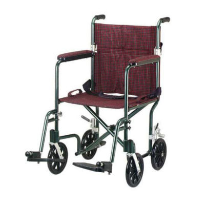 drive medical aluminum transport chair burgundy fly